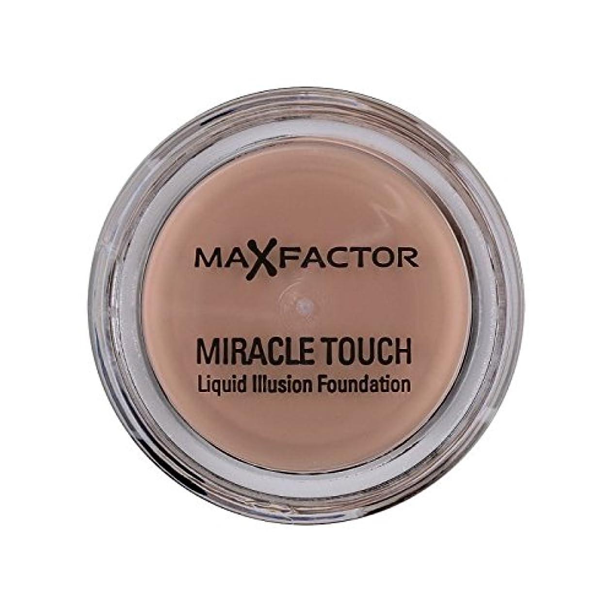 クラブ歪める十分マックスファクターの奇跡のタッチ基盤の自然70 x4 - Max Factor Miracle Touch Foundation Natural 70 (Pack of 4) [並行輸入品]