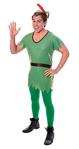 Bristol Novelty AC029 Costume da Robin Hood/Elfo, Marrone