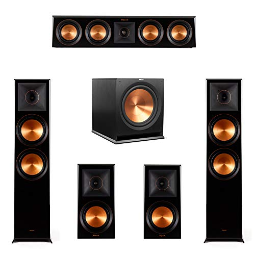 Find Discount Klipsch 5.1.2 Piano Black System-2 RP-8060FA,1 RP-404C,2 RP-600M,1 R-115SW