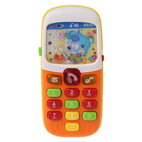 GLASSNOBLE Colgante colgante, bebé teléfono móvil educativo juguetes de aprendizaje electrónico juguete de la música del teléfono del juguete