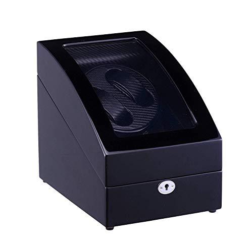 GUOOK GUOOK Aufbewahrungsboxen, Holz Automatik Uhrenbeweger Doppeluhren für 2 + 3 Uhren Uhrenbeweger für Automatikuhren Custom