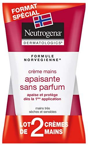 Neutrogena - Crema para manos calmante sin perfume, tubo de 50 ml x 2