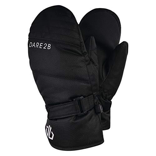 Dare 2b Jungen Roaring Waterproof Insulated Mitt with Gripped Palm Handschuhe Kinder, Schwarz, 33 cm