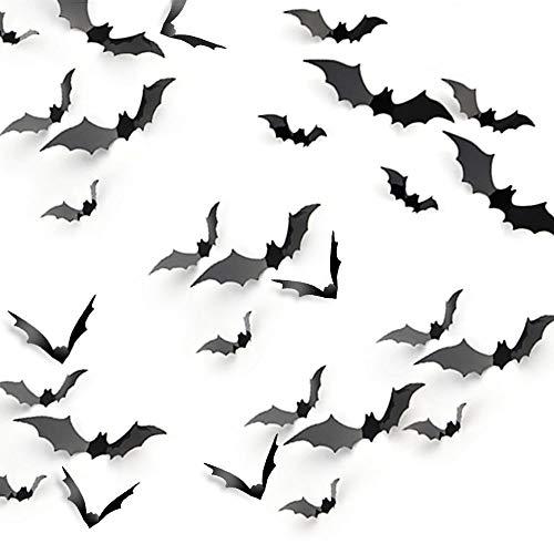 KUUQA Halloween Party Decoration Decal Wall Sticker DIY PVC 3D Decorative Bats 36 Pieces