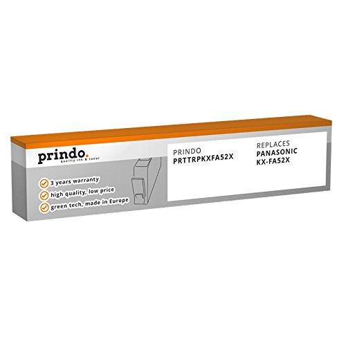Prindo Panasonic KX-FA52X (2er Pack) Thermotransferrolle - Alternative Druckerpatronen - Druckerzubehör geeignet für Verschiedene Panasonic Drucker