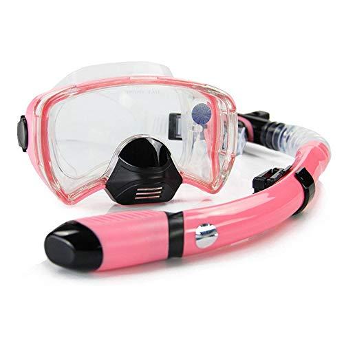 Mascarilla de buceo Hombres Mujeres Profesional Gafas de natación Tubo de snorkeling Aletas de buceo de adultos Aletas de buceo largas Establecer equipo deportivo Gafas De NatacióN ( Color : Pink )