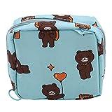 Yeucan Nylon Bagsstorage Bag Sanitary Pad Holder Napkin Towel Convenience Bags Cute Child Organizer Purse,Blue Bear