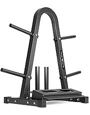 Marbo Sport MH-S007 2.0 - Soporte múltiple para discos de peso, mancuernas y barras (carga máxima de 300 kg), color negro