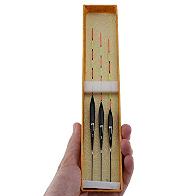 OriGlam 3Pcs Balsa Wood Pole Floats Coarse Carp Fishing Glow Sticks, Fishing Float Balsa Wood Carp Float Set from OriGlam