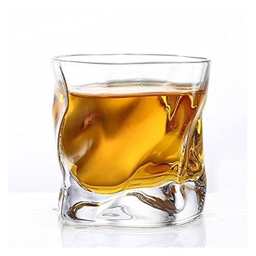 PQQ Vasos de Whisky Vasos de Cristal Copas de Vino Copas de Licor para Beber Whisky Cócteles Brandy para Regalos del día del Padre Barras de Fiesta Juego de 6 en casa (Color : 03)