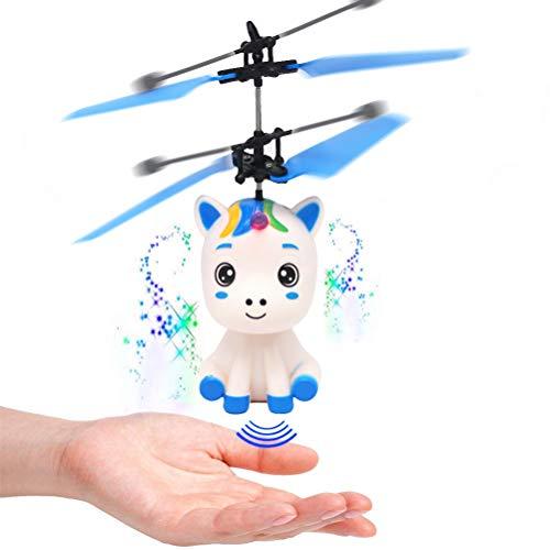 BSTCAR Fliegendes Einhorn Spielzeug mit Led-licht, Steuern Sie die Drohne von Hand, Infrarot-induktions-Hubschrauber , Induktionsspielzeug, Kinder Geschenke, Indoor-und Outdoor-Spiele