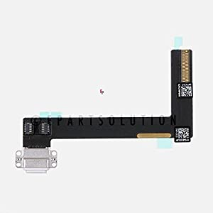 ePartSolution_iPad Air 2 USB Charger Charging Port Dock Connector Port Flex Cable A1567 A1566 Replacement Part (White)