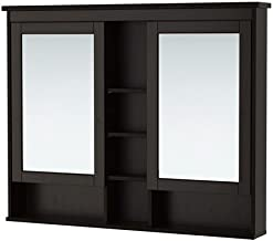 Ikea Mirror cabinet with 2 doors, black-brown stain 55 1/8x38 5/8