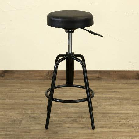 昇降式スツール Ares UTK-02 カウンターチェア 丸椅子 オフィスチェア (ブラック)