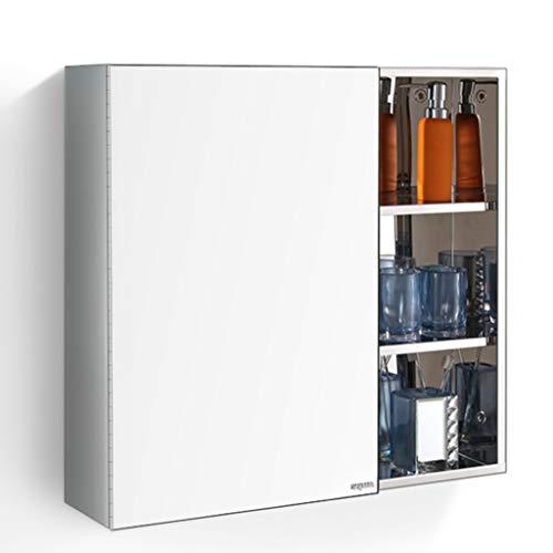 Spiegelschränke Badezimmermöbel Edelstahl 60 * 60cm Wandbehang 180 Grad Dreh Installation Badezimmer Badezimmer Spiegel mit Regal Badspiegel