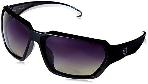 Ryders Polarized Sports Sunglasses 100% UV Protection, Durable Sunglasses for Men, Women - Face (Black Frame/Grey Lens)