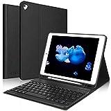 Teclado iPad 10.2 8ª Gen 2020/7ª Gen 2019,Funda con Teclado (Diseño Español Incluye Ñ) Bluetooth Inalámbrico para iPad 10.2/iPad Air 3 /iPad 10.5 Pro,Negro