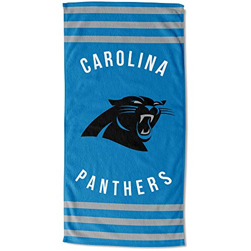 The Northwest Company Carolina Panthers - Toalla de Playa (30 x 60 cm), diseño de Rayas