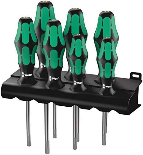 Wera TORX® HF Schraubendrehersatz Kraftform Plus 367/7 mit Haltefunktion + Rack, 7-teilig, 05223161001