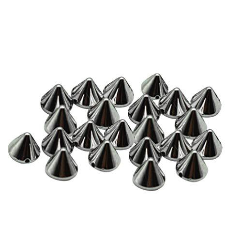 EXCEART Paquete de 100 Puntas Cónicas Punta de Bala Cono Tachuelas Cuentas Cono Clavos Punk Punta de Diamantes de Imitación para DIY Zapatos Adorno Prendas Accesorio