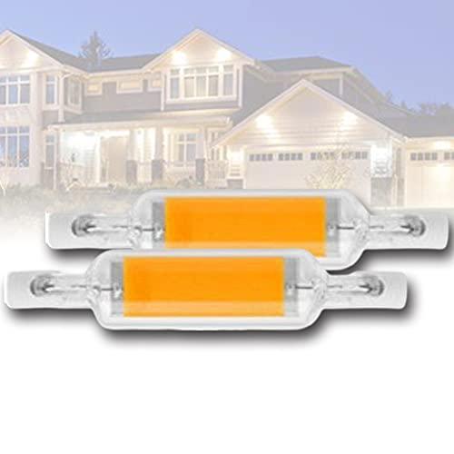 78mm 60W Bombilla LED Bombillas LED de Doble Extremo J Tipo R7S Reflector halógeno Ángulo de Haz de 360 ° Reemplazo COB Bombillas Luces de Paisaje