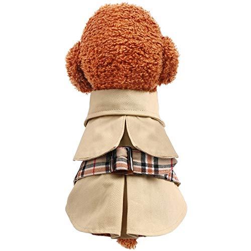 Abrigo para Mascotas, Ropa, Moda y Abrigo. Teddy Dog Trench Coat Spring y otoño Bichon Suministros para Mascotas Ropa de Verano Corgi Pequeños Cachorros Cat Ropa Delgada