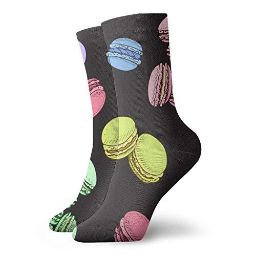 Calcetines, Sketch Macaron Sport Athletic Sock Calcetín Casual Calcetín Poliéster Crew Tube Medias 11.8 pulgadas para hombre y mujer