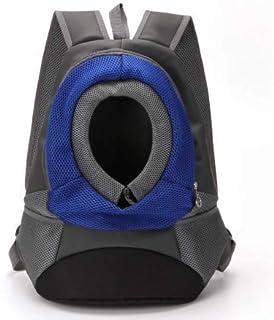 Pet Carrier Backpack Small Dog Cat Shoulder Bag Puppy Front Travel Packsack Pet Holder for Hiking Trip Travel (Blue)