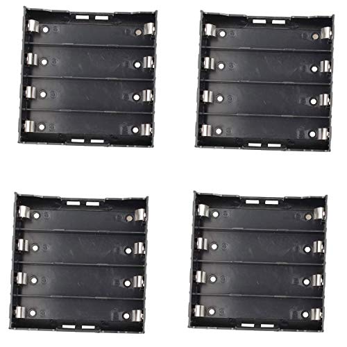 Movilideas 4 Portapilas 18650 de 4 Pilas Baterías para Soldar PCB