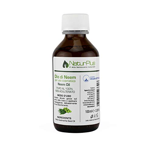 NaturPlus Olio di Neem Puro al 100% Vegan, 100 ml