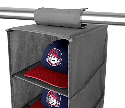 Cap Buddy - Juego de Arandelas y Perchero para Gorra de béisbol, Estante de Almacenamiento para Gorra de béisbol, Armario Colgante de 8 estantes, Organizador para Todo Tipo de Sombreros