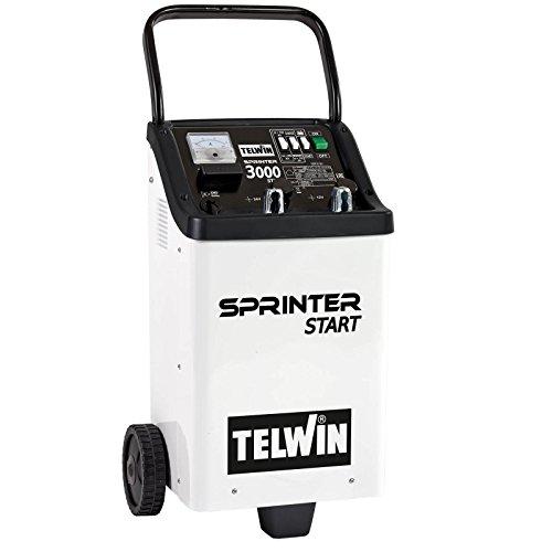Telwin Elements SPRINTER 3000 START Batterie Ladegerät und Starthilfegerät für 12V/24V Batterien, Ladestrom bis zu 45 A, Startstrom 180 - 300 A, Kapazität bis zu 700 Ah