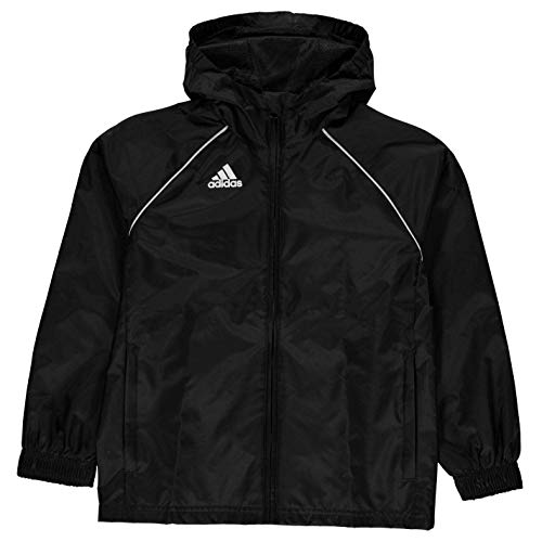 adidas Core18 Rn Jkt Y Giacca Sportiva., Unisex bambini, Black/White., 1112