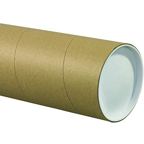 Aviditi P5024KHD Jumbo Mailing Tubes, 5' x 24', Kraft (Pack of 15)