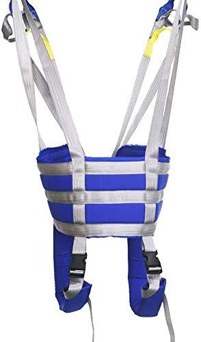 Z-SEAT Gepolsterter Toiletten-Patientenlift-Sling, medizinische Liftausrüstung mit Einstellbarer Höhe für ältere Menschen, Senior-Ganzkörperlifter-Vierpunkt-Sling