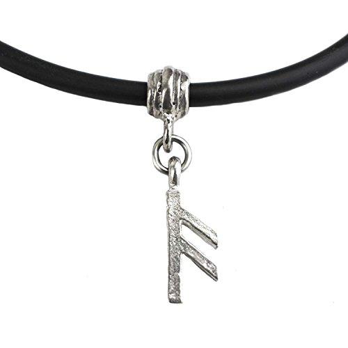 Unisex Wikinger Runen Anhänger Halsband, aus Hartzinn,Viking, Gothic … (A-)