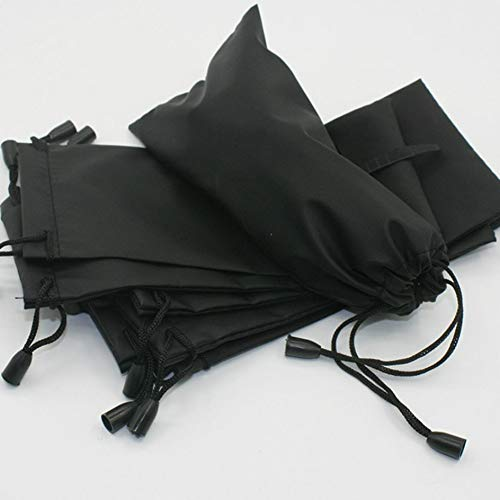 Chowcencen Gafas de Sol Negras Funda Bolsa Organizador Bolsa de cordón Bolsa con cordón Gafas de Sol Bolsa de Cierre