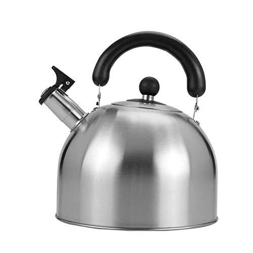 tea kettle Bouilloire Sifflet en Acier Inoxydable Thé, Poignée Ergonomique Résistant À La Chaleur, Convient for Le Thé Ou Café Au Lait Chauffage (Couleur : Silver, Taille : 6L)