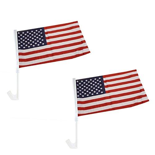 Sonia Originelli 2er Set Auto Flagge Fahne WM Länder Fußball Fan Farbe USA