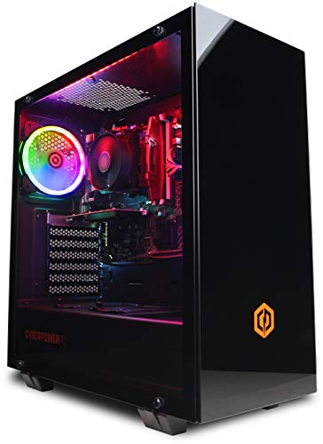 CYBERPOWERPC PC Warrior Gaming: 9700F, Nvidia GTX 1660 6 GB, 16 GB RAM, 240 GB SSD, 2 TB HDD, 400 W 80+ PSU, Wifi, Windows 10, Onyxia Intel Core i7 Nvidia GeForce GTX 1660 6GB