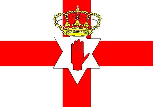 U24 Fahne Flagge Nordirland 150 x 250 cm