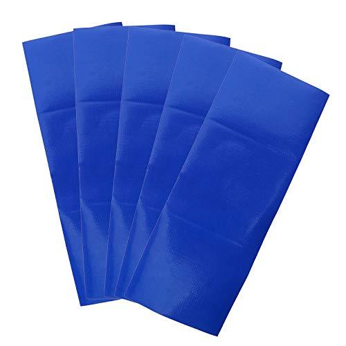 OTOTEC 5 Stks Blauw Waterdichte Lijm patch Reparatie Tape Canvas Tent Luifel Swag