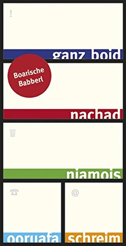 Boarische Babberl - Haftnotizzettel in Box - Notizzettel mit bayerischen Sprüchen - Dialekt Bayern