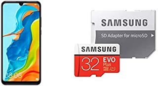 HUAWEI P30 Lite ミッドナイトブラック SIMフリースマートフォン&Samsung microSDカード32GB セット