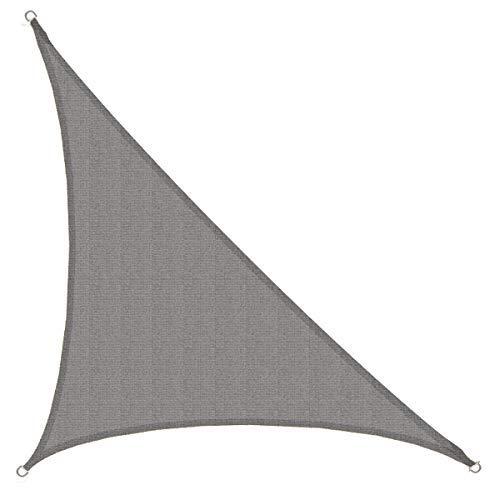 AMANKA Toldo UV - HDPE 4,2x4,2x6 Vela de Protección Solar Triangular - Techo Balcón Jardín Gris