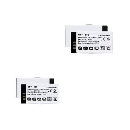 Synergy Digital Cordless Phone Batteries, Works with Vtech VCS704 Cordless Phone, Combo-Pack Includes: 2 x EM-CPP-555 Batteries