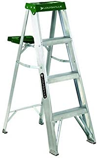 Louisville Ladder 4-Foot Aluminum Step Ladder, 225-Pound Capacity, AS4004