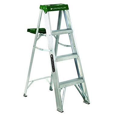 Louisville Ladder 4-Foot Aluminum Step Ladder, 225-Pound Capacity, AS4004