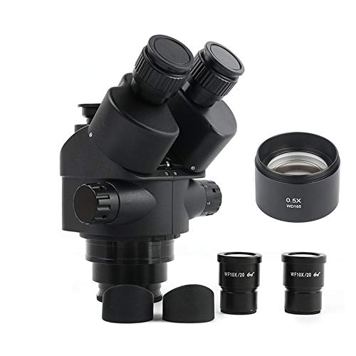IGOSAIT Professional Simul Focal 3.5-90X Continuous Zoom Trinocular Stereo Microscope Head WF10X-20 Eyepiece Rubber Eye-Guards Parts Repair/Nature Observation (Color : 3.5 45X(165mm))