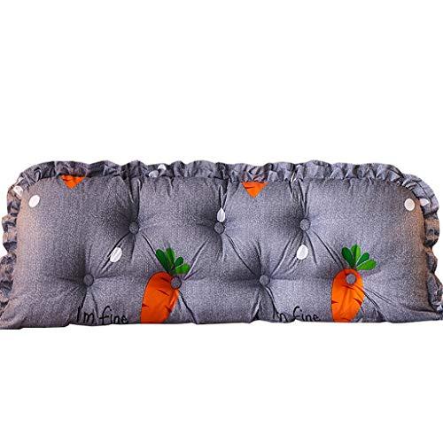 GJ Cama de Matrimonio Cabeza Almohada, Reading Almohada, cojín del sofá Cama, Suave cojín Tatami Apoyo a la Cintura, Desmontable, 5 tamaños (Size : 185×45cm)